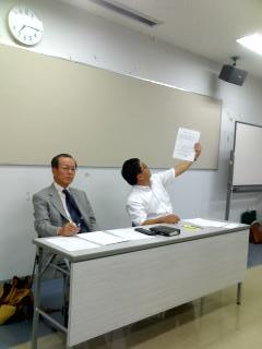 本坊先輩(6期)と牧野田先輩(16期)